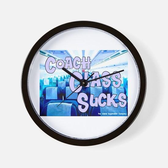 Coach Class Sucks Wall Clock