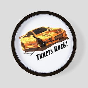 """""""Tuners Rock"""" Wall Clock"""