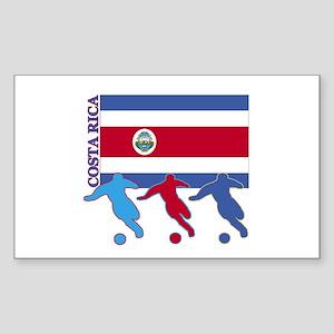 Soccer Costa Rica Rectangle Sticker 10 pk)