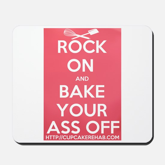 "Cupcake Rehab ""ROCK ON.."" Logo Mousepad"