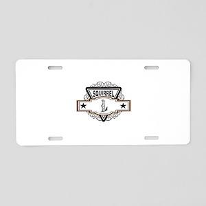 black stars squirrel Aluminum License Plate