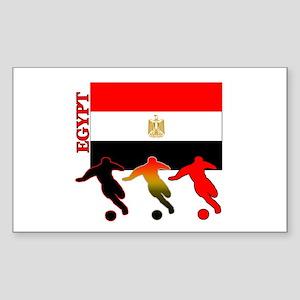 Egypt Soccer Rectangle Sticker 10 pk)