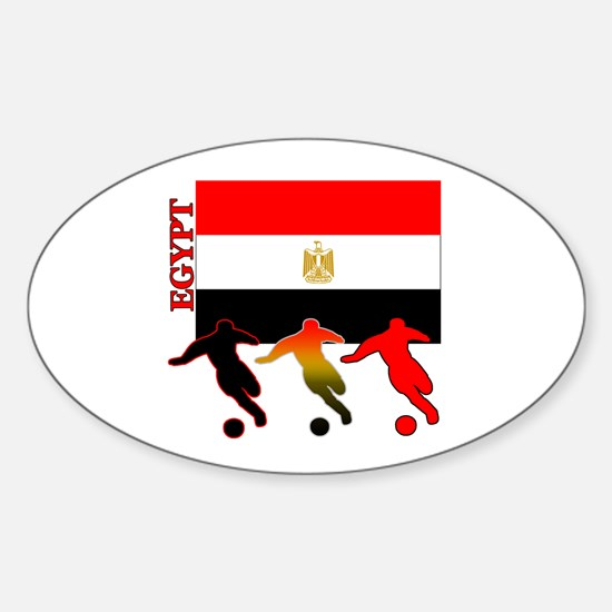 Egypt Soccer Oval Sticker (10 pk)