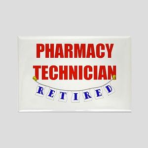 Retired Pharmacy Technician Rectangle Magnet