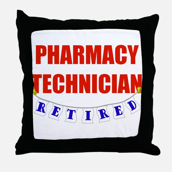 Retired Pharmacy Technician Throw Pillow