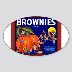 Brownies Brand Oval Sticker