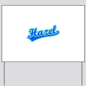 Retro Hazel (Blue) Yard Sign