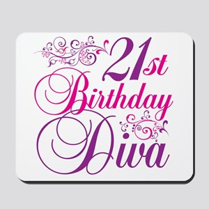 21st Birthday Diva Mousepad
