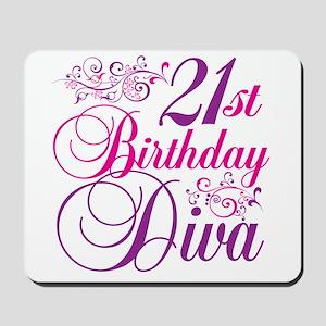 21st Birthday Diva Mousepad