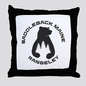 Saddleback Maine - Rangeley - Maine Throw Pillow