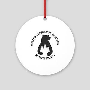 Saddleback Maine - Rangeley - Mai Round Ornament