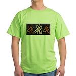 ATHEIST ORANGE Green T-Shirt