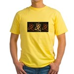 ATHEIST ORANGE Yellow T-Shirt
