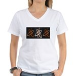 ATHEIST ORANGE Women's V-Neck T-Shirt