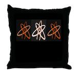 ATHEIST ORANGE Throw Pillow