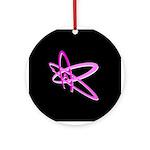 ATHEIST SYMBOL PINK DARK Ornament (Round)
