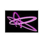 ATHEIST SYMBOL PINK DARK Rectangle Magnet (100 pac