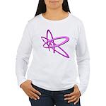 ATHEIST SYMBOL IN PINK Women's Long Sleeve T-Shirt