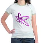 ATHEIST SYMBOL IN PINK Jr. Ringer T-Shirt