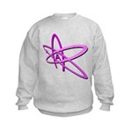 ATHEIST SYMBOL IN PINK Kids Sweatshirt