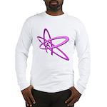 ATHEIST SYMBOL IN PINK Long Sleeve T-Shirt