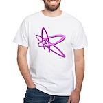 ATHEIST SYMBOL IN PINK White T-Shirt