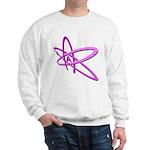 ATHEIST SYMBOL IN PINK Sweatshirt