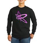 ATHEIST SYMBOL IN PINK Long Sleeve Dark T-Shirt