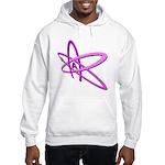 ATHEIST SYMBOL IN PINK Hooded Sweatshirt