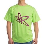 ATHEIST SYMBOL IN PINK Green T-Shirt