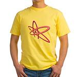 ATHEIST SYMBOL IN PINK Yellow T-Shirt