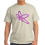 ATHEIST SYMBOL IN PINK Light T-Shirt