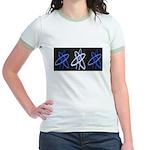 ATHEIST BLUE Jr. Ringer T-Shirt