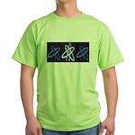 ATHEIST BLUE Green T-Shirt