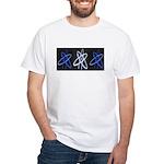 ATHEIST BLUE White T-Shirt