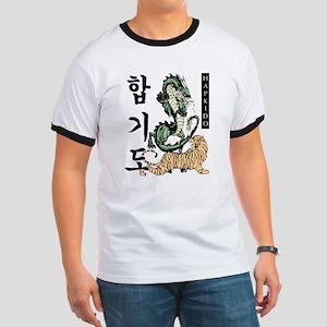 White Hapkido Tiger And Dragon T-Shirt