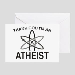 THANK GOD I'M ATHEIST Greeting Card