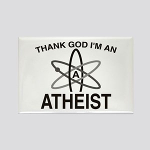 THANK GOD I'M ATHEIST Rectangle Magnet