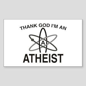 THANK GOD I'M ATHEIST Rectangle Sticker