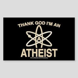 THANK GOD I'M ATHEIST DARK Rectangle Sticker