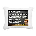 PUBLIC SCHOOLS Rectangular Canvas Pillow