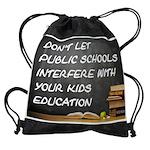 PUBLIC SCHOOLS Drawstring Bag