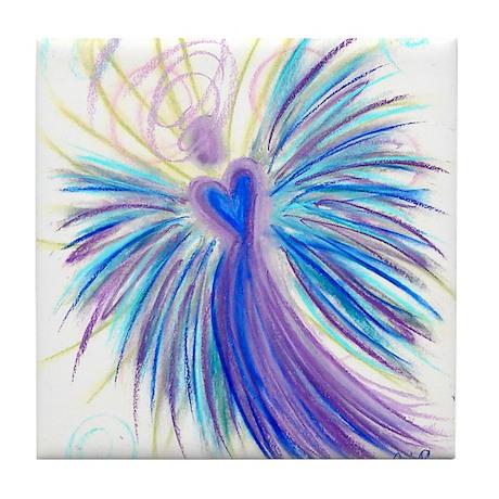 Indigo Crystal Angel Tile Coaster