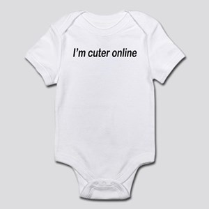 I'm cuter online Infant Bodysuit