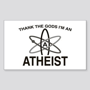 THANK THE GODS I'M ATHEIST Rectangle Sticker