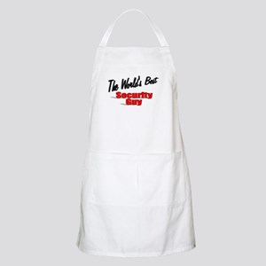 """"""" The World's Best Security Guy"""" BBQ Apron"""