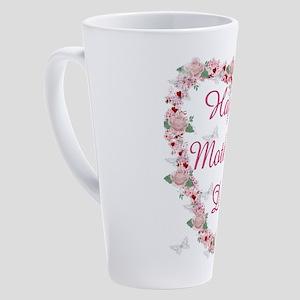 Cherry Blossom Heart For Mom 17 oz Latte Mug