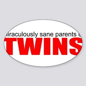 Twins drive you crazy Sticker
