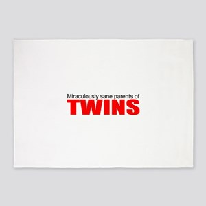 Twins drive you crazy 5'x7'Area Rug