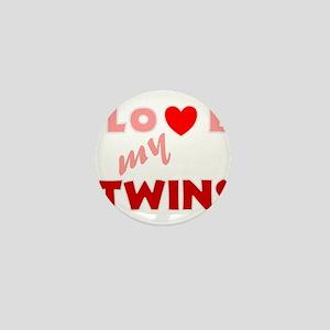 Unique heart twins Mini Button